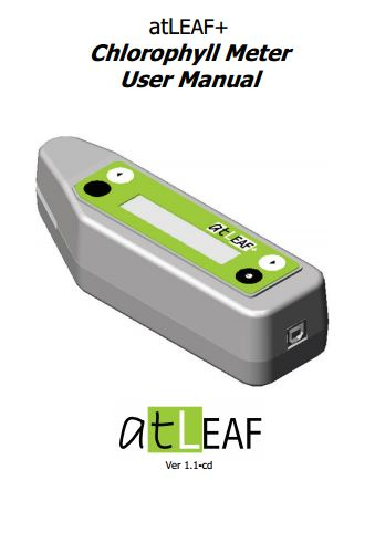 atLEAF+ Chlorophyll Meter User Manual ver. 1.1