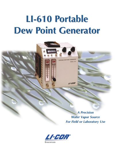 LI-COR LI-610 Dew Point Generator Brochure