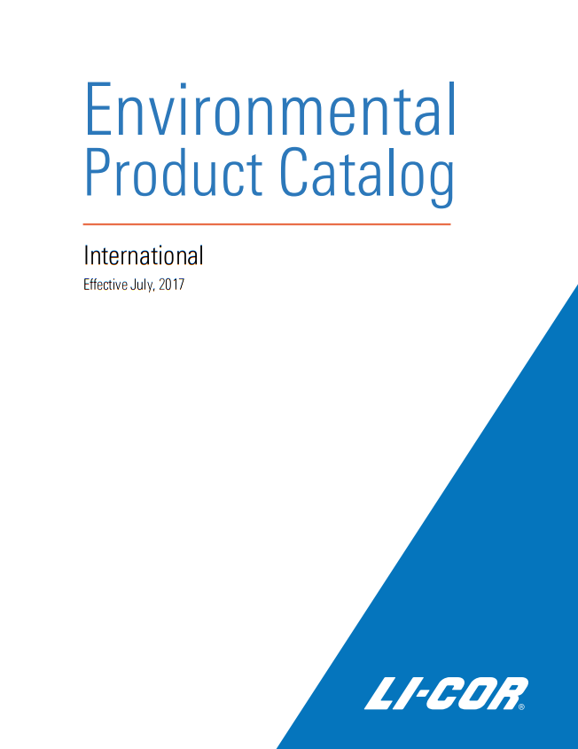 Каталог Environmental Product Catalog July 2017