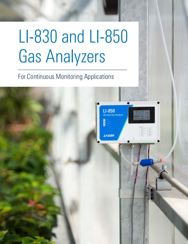 LI-830 and LI-850 Gas Analyzers