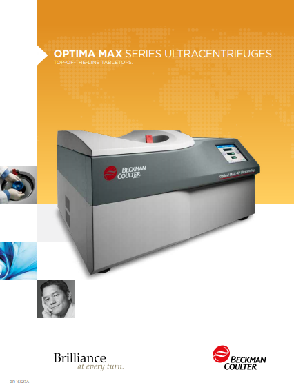 Optima MAX Series Ultracentrifuges